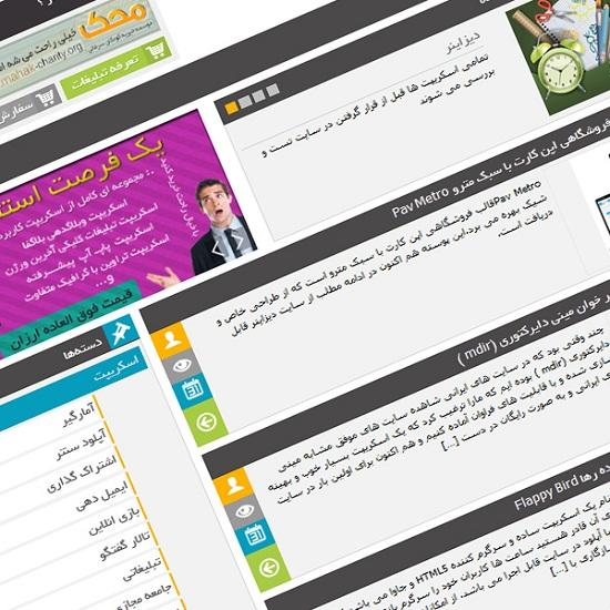 قالب سایت دیزاینر نسخه 4 برای وردپرس+ رزبلاگ