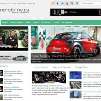دانلود قالب جوملا 2.5 و3.2 راستچین Financial News v1.1