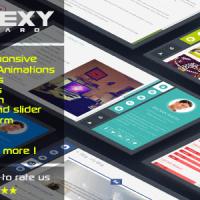 قالب html بی نظیر صفحه شخصی FlexyVcard