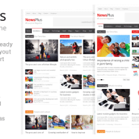 دانلود قالب مجله ای خبری NewsPlus 1.1 وردپرس
