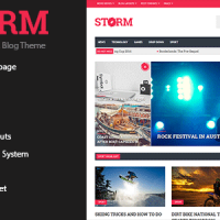 قالب بسیار زیبای مجله ای وردپرس Storm v1.1.5 راست چین