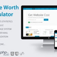 دانلود اسکریپت تخمین قیمت سایت Website Worth Calculator